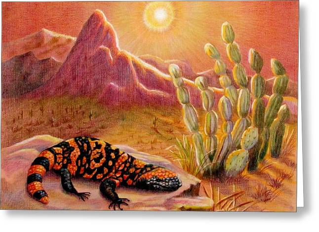 Sizzling Heat Greeting Card by Marilyn Smith