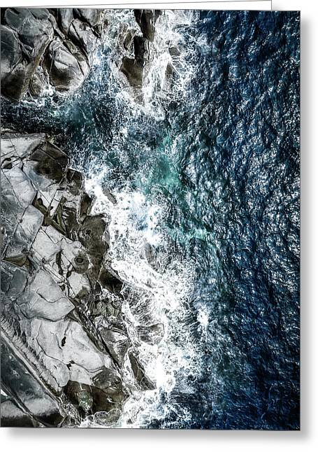 Skagerrak Coastline - Aerial Photography Greeting Card
