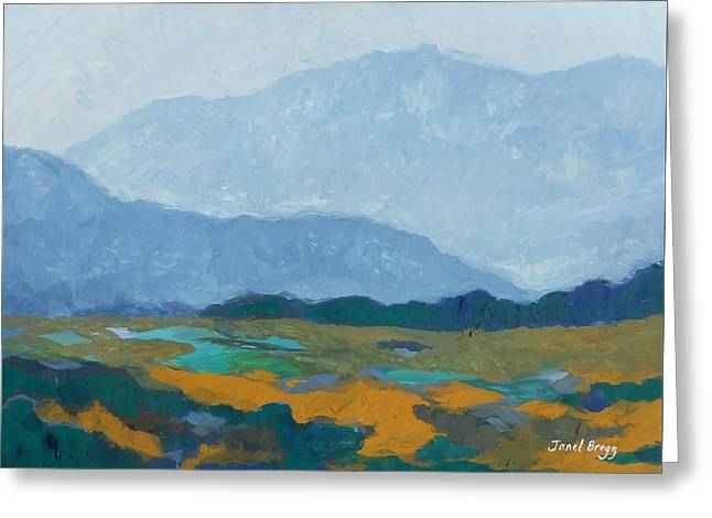 Skagit Flats In Casein Greeting Card by Janel Bragg