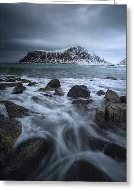 Skagsanden Beach Greeting Card by Tor-Ivar Naess