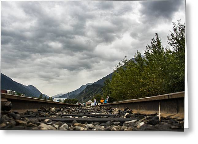 Skagway Tracks Greeting Card by Robin Williams