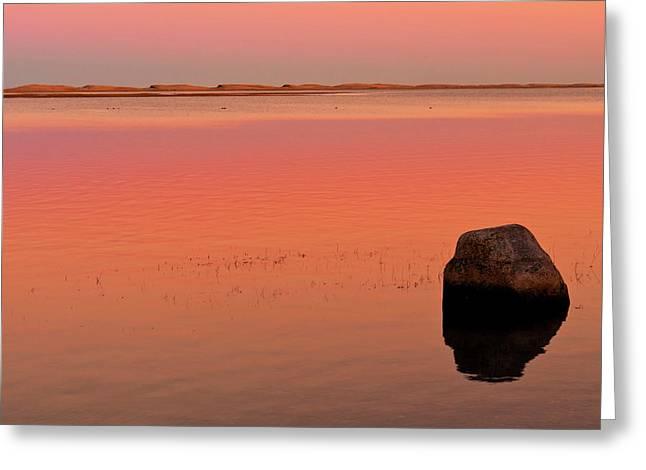Skaket Beach Sunset 1 Greeting Card
