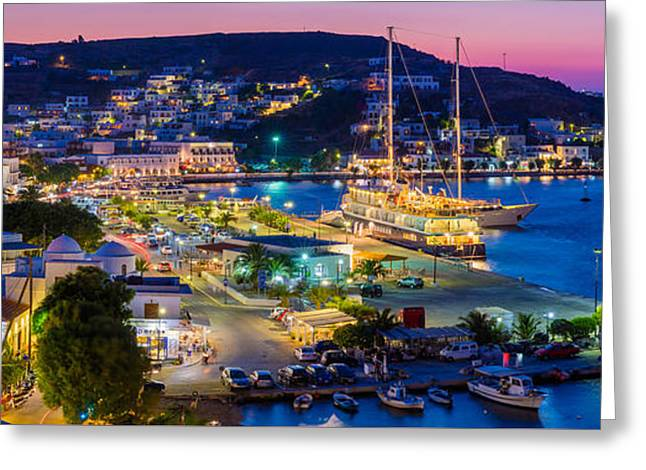 Skala Panorama Greeting Card by Inge Johnsson