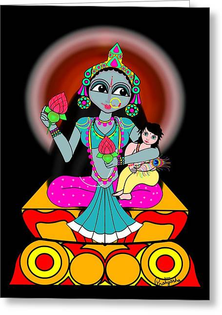 Skandamata Greeting Card by Pratyasha Nithin