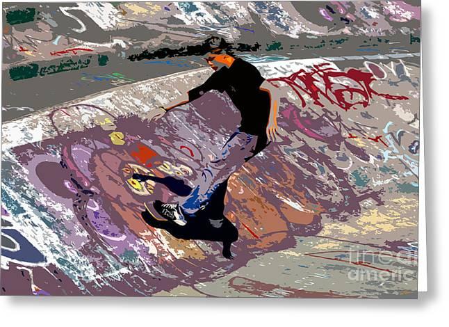 Skate Park Greeting Card by David Lee Thompson