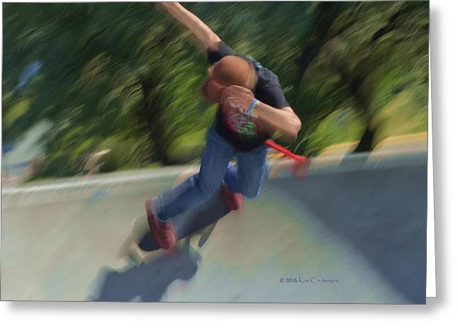 Skateboard Action Greeting Card