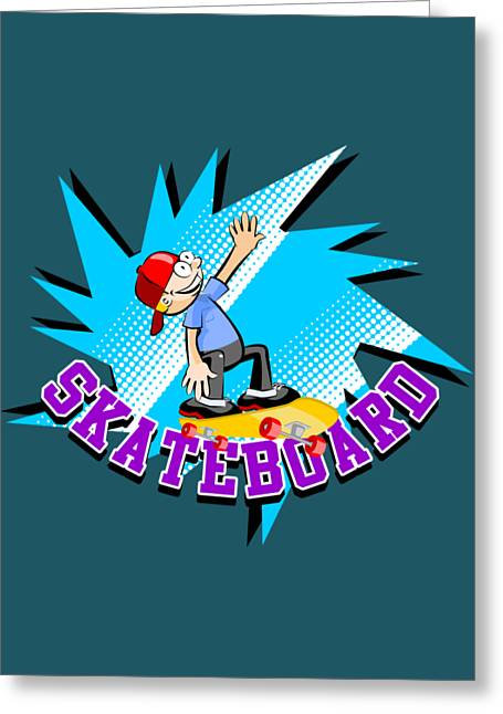 Skateboard Fan Jumping Greeting Card