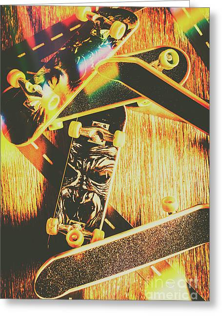 Skateboarding Tricks And Flips Greeting Card