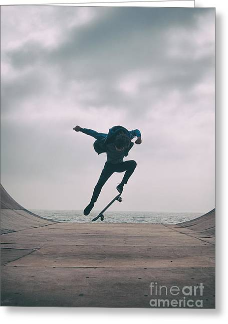Skater Boy 004 Greeting Card