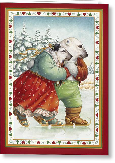 Skating Bears Greeting Card by Lynn Bywaters
