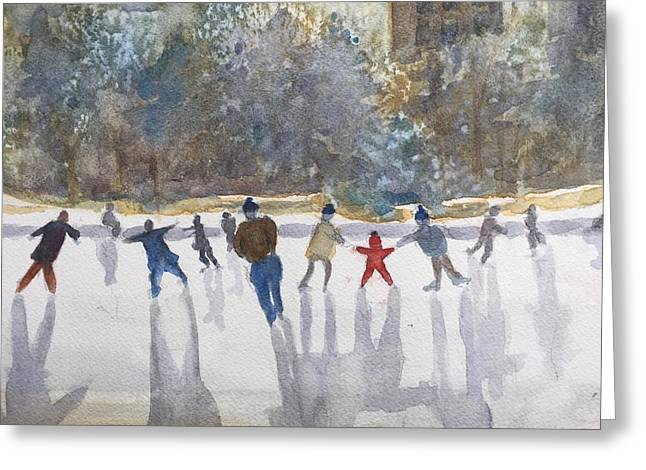 Skating  Greeting Card by Peggy Poppe