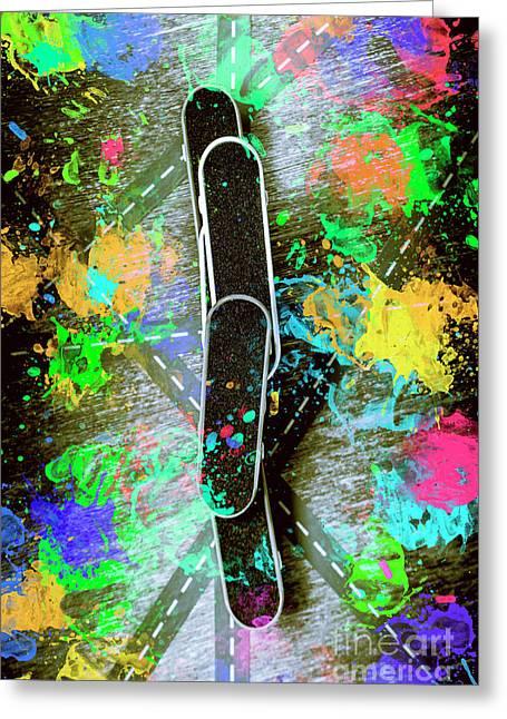 Skating Pop Art Greeting Card