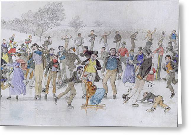 Skating Scene Greeting Card