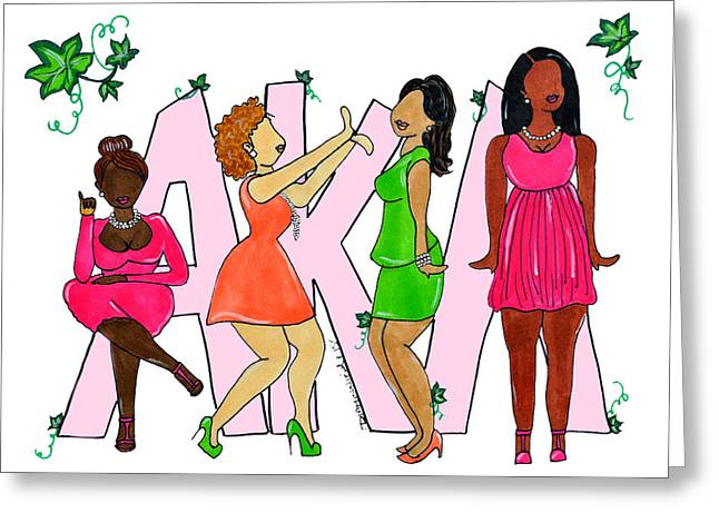 Skee Wee My Soror Greeting Card by Diamin Nicole