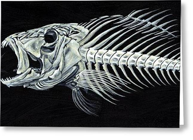 Bonefish Greeting Cards - Skeletail Greeting Card by JoAnn Wheeler
