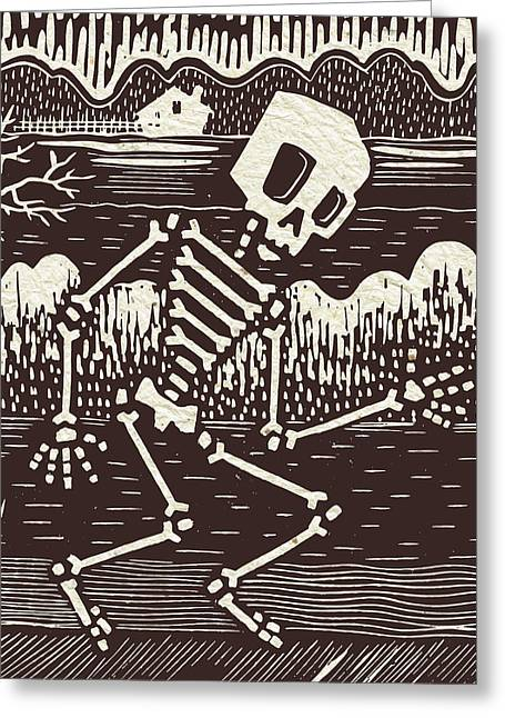 Skeleton Farm  Greeting Card