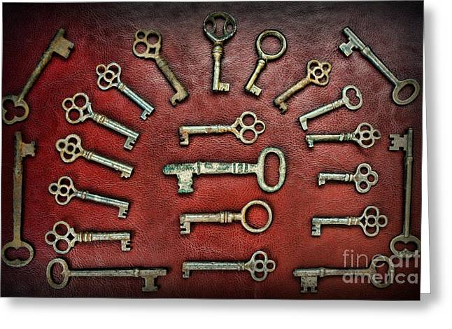 Skeleton Key Gothic Collection  Greeting Card by Paul Ward