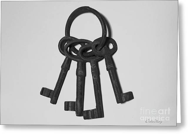 Greeting Card featuring the photograph Skeleton Keys by Dodie Ulery