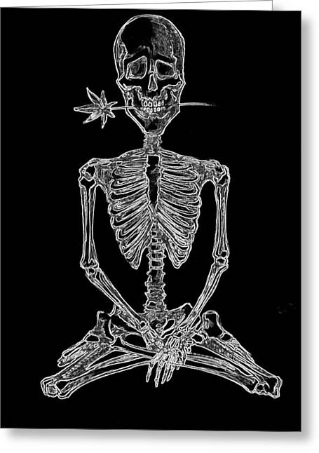 Skeleton Greeting Card by Mary Marchenko