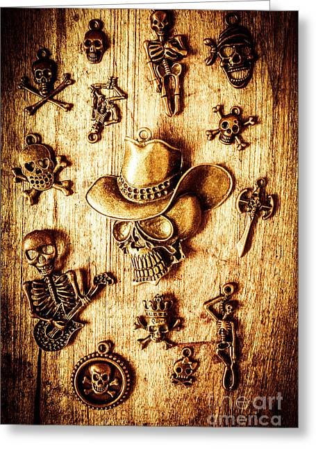 Skeleton Pendant Party Greeting Card