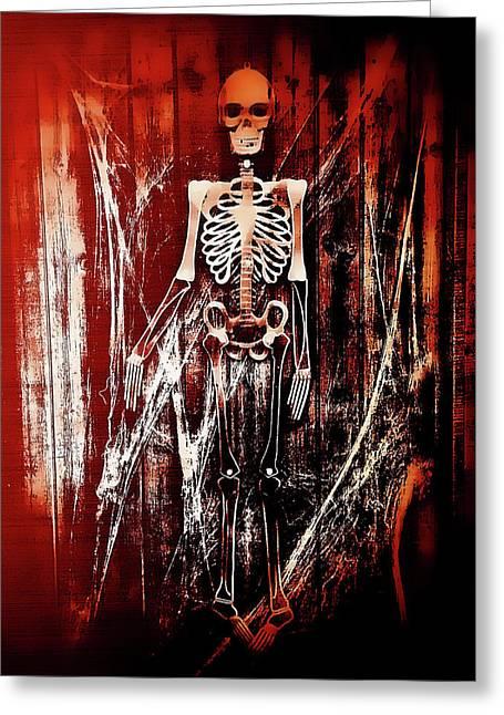 Skeleton Greeting Card by Tom Gowanlock
