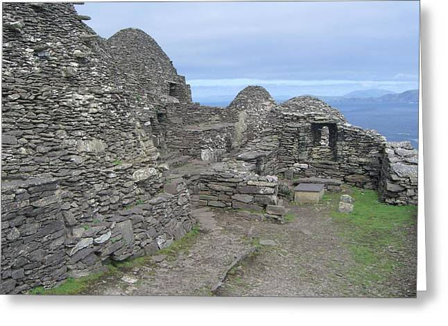 Skellig Michael Greeting Card by Amanda Kabat