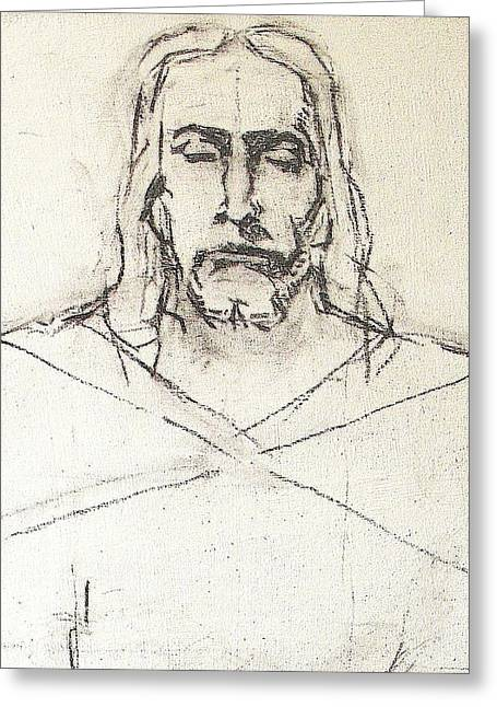 Sketch A Of Christ Greeting Card