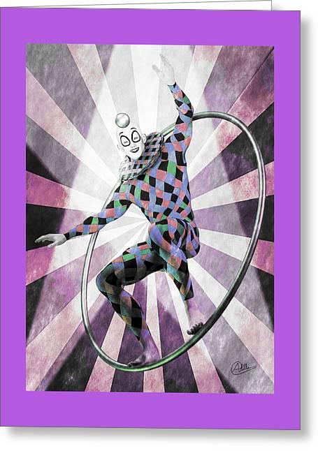 Sketch Circus Greeting Card by Quim Abella