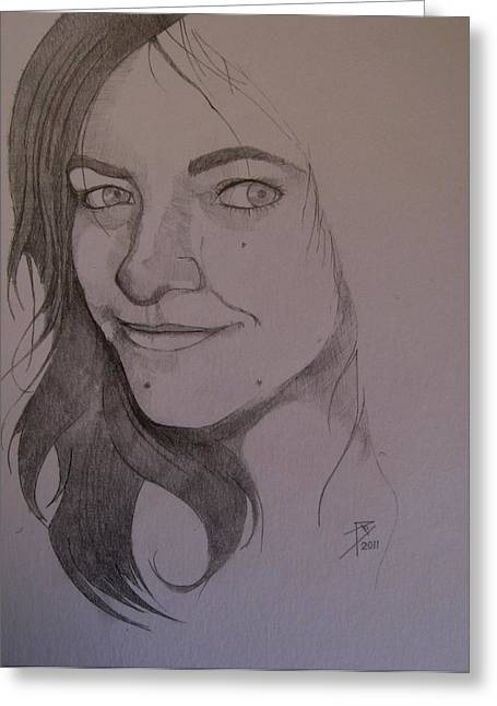 Sketch For Allison Greeting Card by Ray Agius