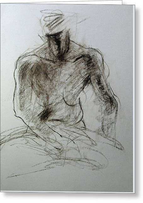 Sketch Of Torso Greeting Card