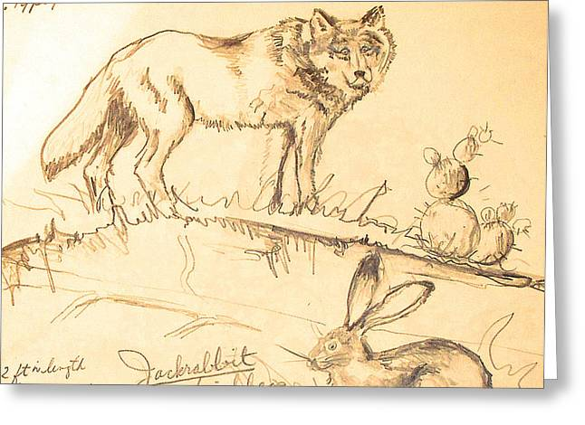 Greeting Card featuring the drawing Sketches For Sale by Linda Shackelford
