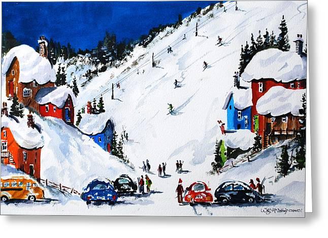 Ski Day At Osler Greeting Card