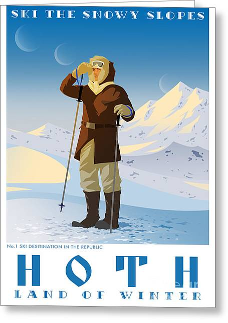 Ski Hoth Greeting Card by Christopher Ables