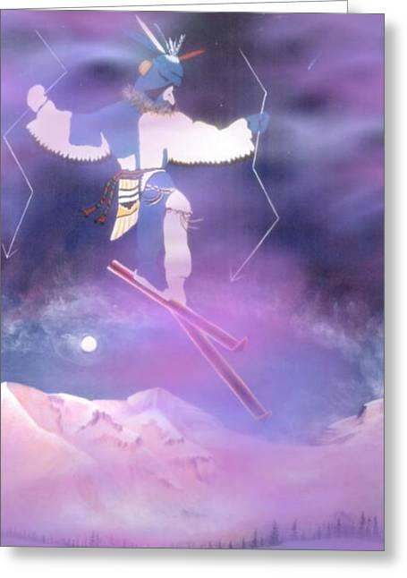 Ski Art Greeting Cards - Ski Kachina Bowl Taos New Mexico Greeting Card by Anastasia  Ealy