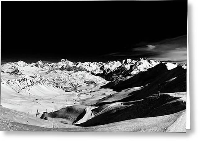 Ski Panorama Greeting Card by Contemporary Art