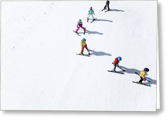 Ski  Greeting Card by Tom Cuccio
