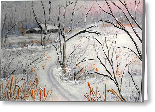 Ski Trail Greeting Card