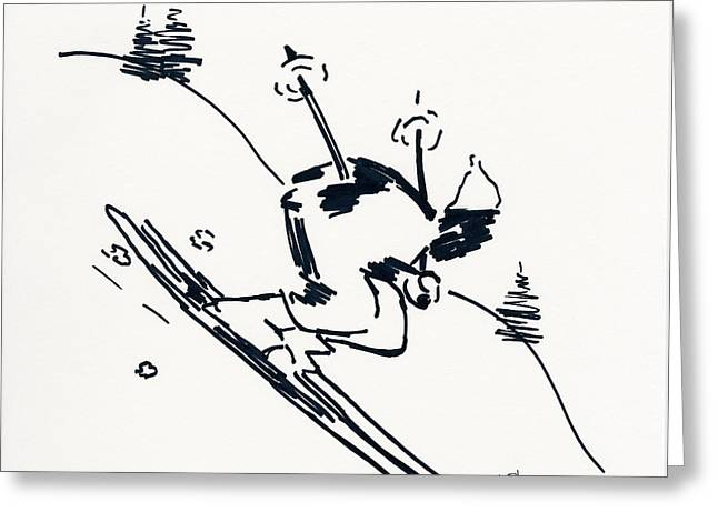 Skier II Greeting Card