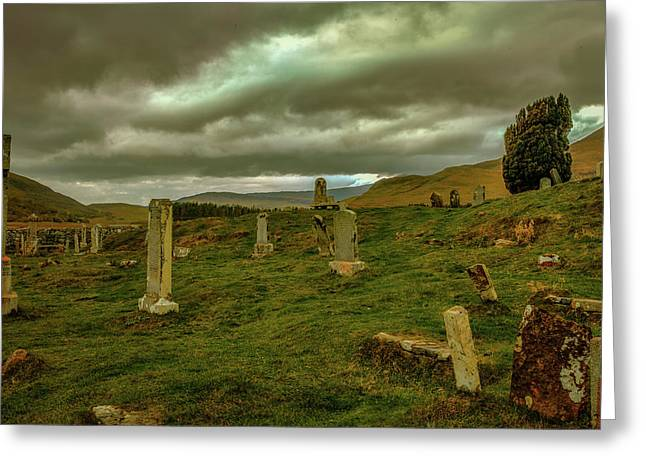 Skies And Headstones #g9 Greeting Card