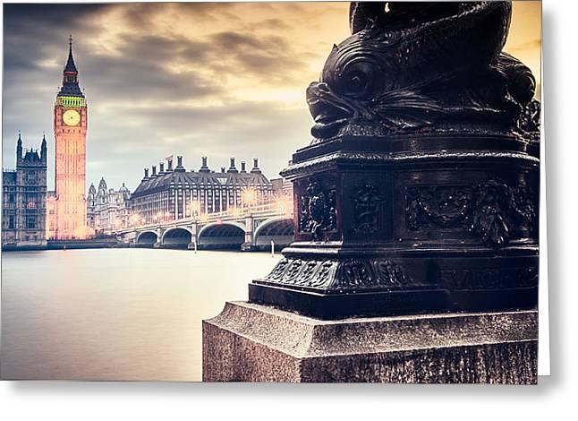 Skies Over London Greeting Card