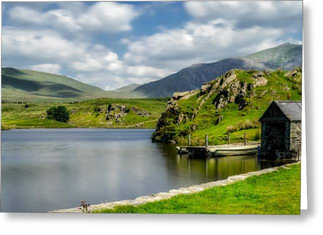 Skies Over Snowdon Greeting Card by Adrian Evans