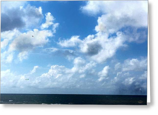 Skies Over The Gulf Greeting Card