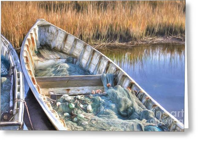 Skiffs And Nets Greeting Card by Benanne Stiens