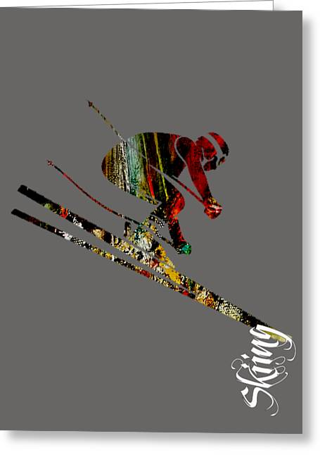 Skiing Collection Greeting Card by Marvin Blaine