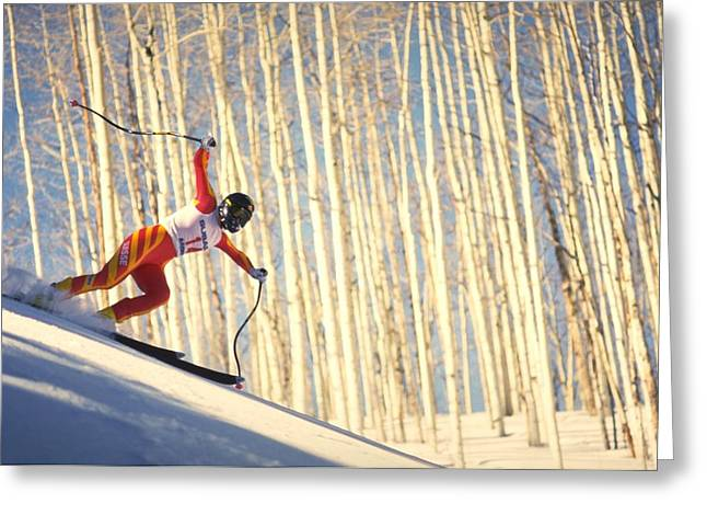 Skiing In Aspen, Colorado Greeting Card