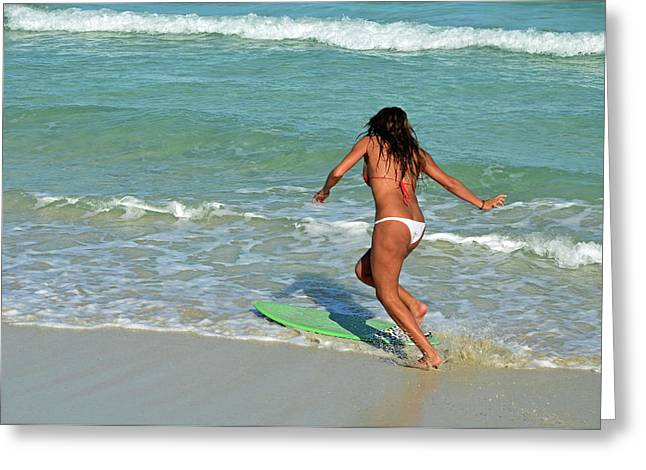 Skim Boarding At Southpointe Park Greeting Card