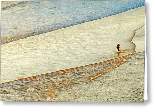 Skim Surfing  Greeting Card