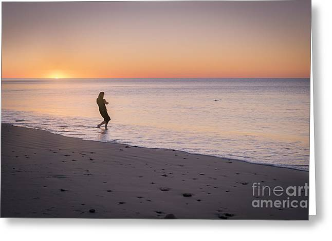 Skipping Stones Greeting Card by Ray Warren