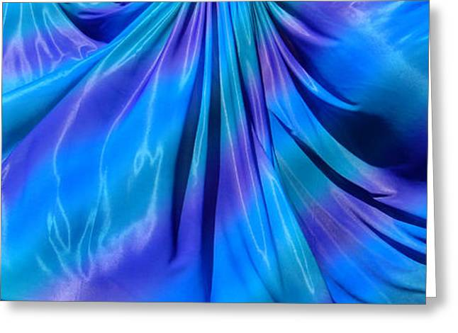 Skirt For Dance. Blue Happiness Greeting Card