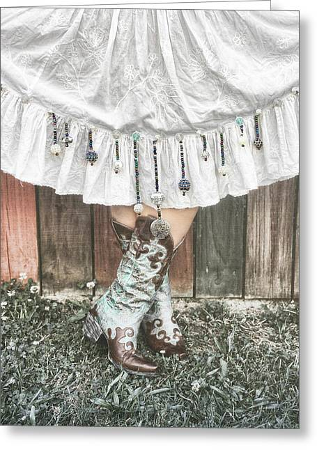 Skirts And Dangles Greeting Card